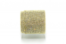 Стразовая цепочка, стекло, стразы 1,4 мм, кристалл в золоте