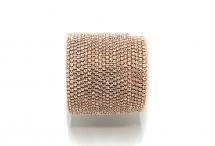 Стразовая цепочка, стекло, стразы 1,4 мм, кристалл в розовом золоте