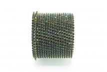 Стразовая цепочка, стекло, стразы 2 мм, монтана в золоте