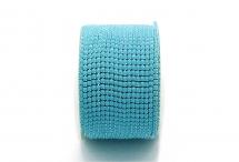 Стразовая цепочка, акрил, стразы 2 мм, голубая в серебре
