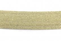Цепь с шариками, медь, 1,5 мм, бежевая