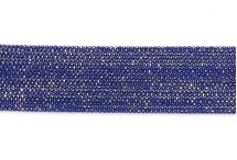 Цепь с шариками, медь, 1,5 мм, синяя