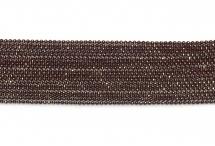 Цепь с шариками, медь, 1,5 мм, бургунди