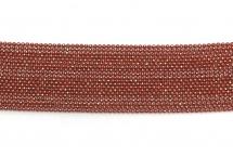 Цепь с шариками, медь, 1,5 мм, перламутровая красная