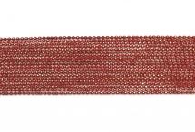 Цепь с шариками, медь, 1,5 мм, красная