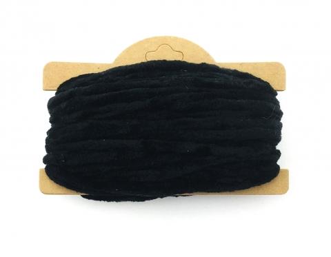 Корейская хлопковая синель, чёрная, 4 мм