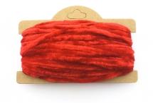 Корейская хлопковая синель, ярко-красная, 4 мм