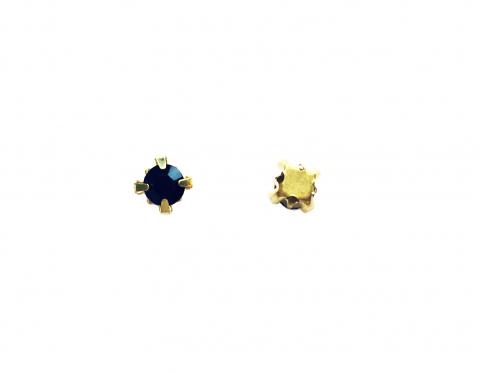 Кристаллы в золотых цапах, стекло, black, 4 мм