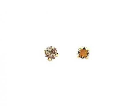Кристаллы в золотых цапах, стекло, crystal, 4 мм