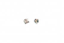 Кристаллы в серебряных цапах, стекло, crystal, 4 мм