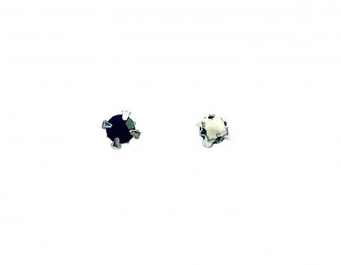 Кристаллы в серебряных цапах, стекло, emerald, 4 мм