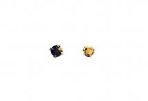 Кристаллы в золотых цапах, стекло, gold, 4 мм