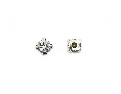 Кристаллы в серебряных цапах, смола, 6 мм
