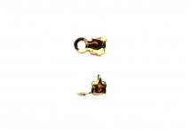 Концевики для стразовых цепей, позолоченная латунь