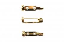 Основа для броши с поворотным механизмом, позолоченная сталь, 1,9 см
