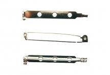 Основа для броши с поворотным механизмом, посеребренная сталь, 3,8 см