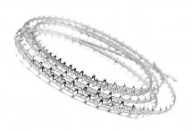 Проволока Безель для оправы кабошонов и кристаллов, родиевое покрытие, зубья 4,5 мм