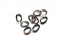 Соединительные колечки, родиевое покрытие по латуни, 7*5 мм, толщина 1,2 мм