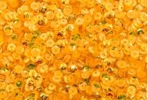 Фигурные пайетки, Индия, Yellow, 5 мм