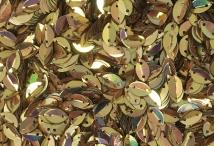 Пайетки в форме листка, Индия, Copper Gold and Yellow Gold, 6*9 мм