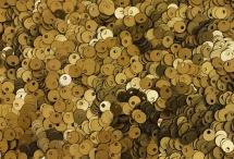 Пайетки со смещенной серединкой, Индия, Antique Gold, 4 мм