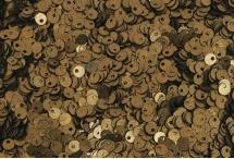 Пайетки со смещенной серединкой, Индия, Dark Antique Gold, 4 мм