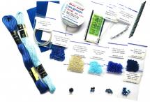 """Набор материалов для мастер-класса """"Перышко"""", синий, без клея"""