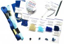 """Набор материалов для мастер-класса """"Перышко"""", синий, без клея и игл"""