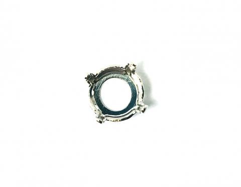 Оправа для шатона, родиевое покрытие, 8.16-8.41 мм (SS39)