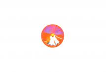 Хрустальный риволи, crystal orange glow DeLite, 12 мм
