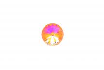 Хрустальный риволи, crystal peach DeLite, 12 мм