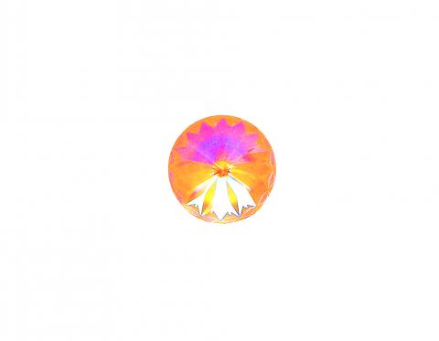 Хрустальный риволи, crystal peach DeLite, 14 мм