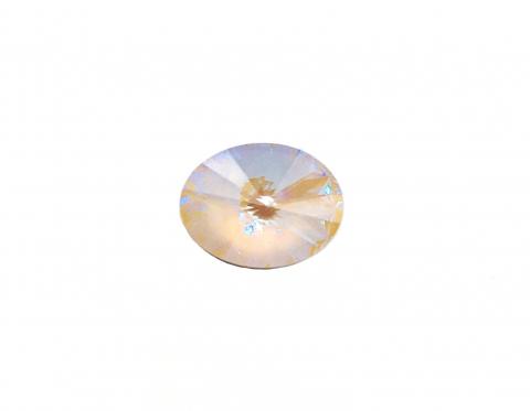 Хрустальный овальный риволи, ivory cream DeLite, 14*10,5 мм