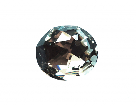 Хрустальный кристалл Nautilus, black diamond, 30*26 мм