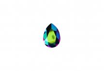 Хрустальная капля, crystal scarabaeus green, 14*10 мм