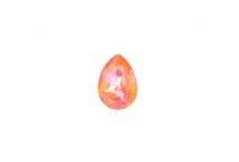 Капля Swarovski, crystal orange glow DeLite, 14*10 мм
