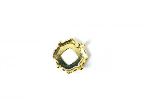 Оправа для мистического квадрата Swarovski, позолота по латуни, 10 мм