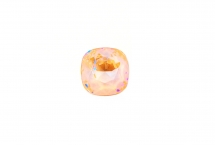 Квадрат Swarovski, crystal peach DeLite, 10 мм