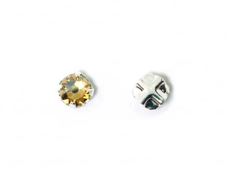 Кристалл Swarovski montees, посеребренное олово, crystal golden shadow, 3,8-4 мм