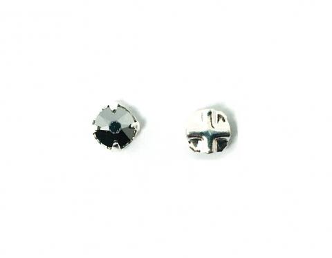 Кристалл Swarovski montees, посеребренное олово, crystal light chrome, 3,8-4 мм