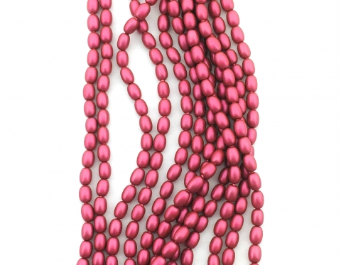 Жемчуг-рис Swarovski, mulberry pink, 4*3 мм