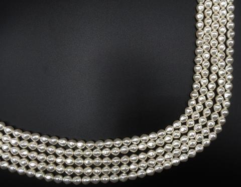 Барочный круглый жемчуг Swarovski, white, 8 мм