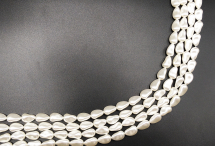 Барочный хрустальный жемчуг-капля, white, 16 мм