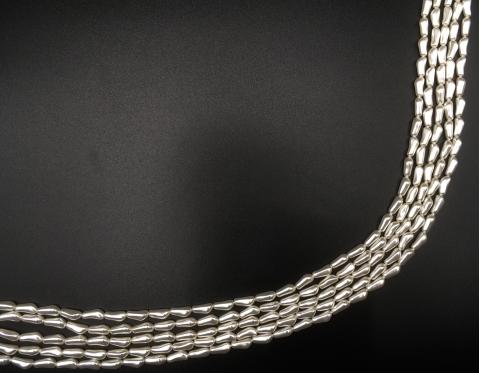 Барочный хрустальный продолговатый жемчуг, white, 14 мм