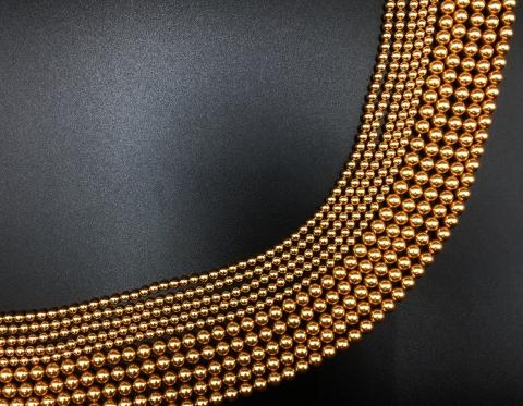 Жемчуг Swarovski, bright gold, 6 мм