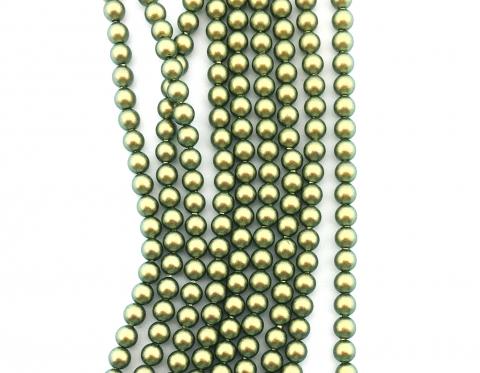 Жемчуг Swarovski, crystal iridescent green, 3 мм