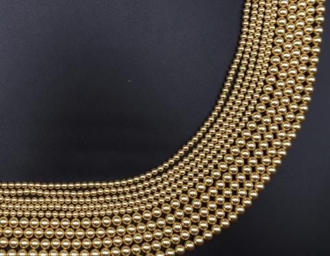 Жемчуг Swarovski, gold, 5 мм