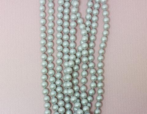 Хрустальный жемчуг, iridescent dove grey, 4 мм