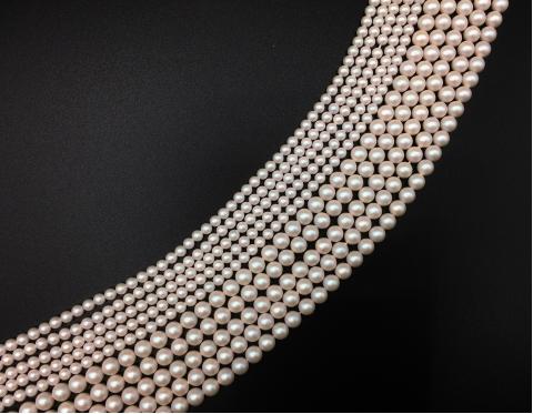 Хрустальный жемчуг, pearlescent white, 4 мм