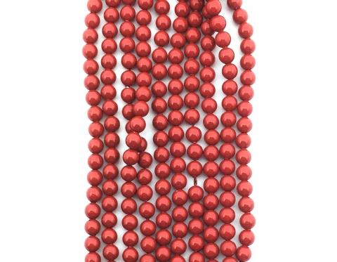 Жемчуг Swarovski, red coral, 3 мм
